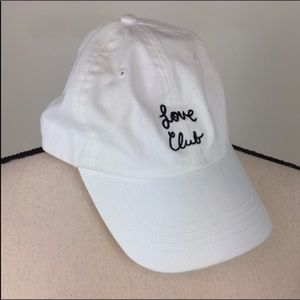 Urban Outfitters Love Club White Baseball Hat